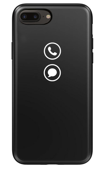 huge discount 9bcc8 c8fbe Чехол Lunecase LUNEIP8PCLASSIC для Apple Iphone 8 Plus, Classic, черный