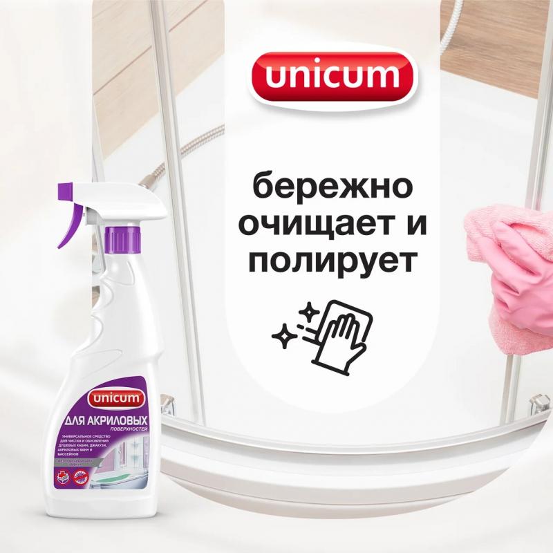 Чистящий спрей UNICUM акриловых ванн и душевых кабин 500 мл — купить в интернет-магазине ОНЛАЙН ТРЕЙД.РУ