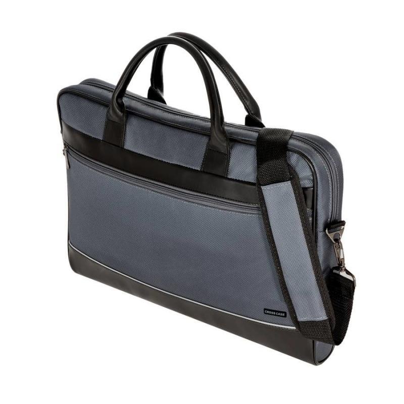 Сумка для ноутбука Cross Case CC17-014, серая чёрн. кожа — купить в ... a8c94e9b2a3