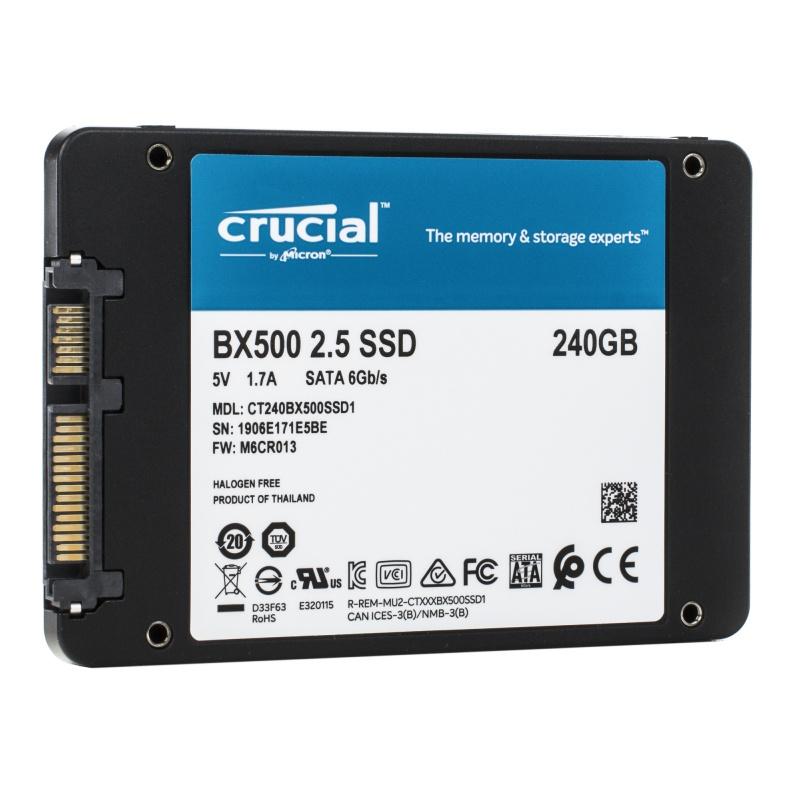 SSD диск Crucial 2.5 BX500 240 Gb SATA III 3D NAND (CT240BX500SSD1) — купить в интернет-магазине ОНЛАЙН ТРЕЙД.РУ