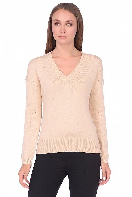 88d495b35169 Пуловер BAON B138505 женский, цвет бежевый, размер XS (42)