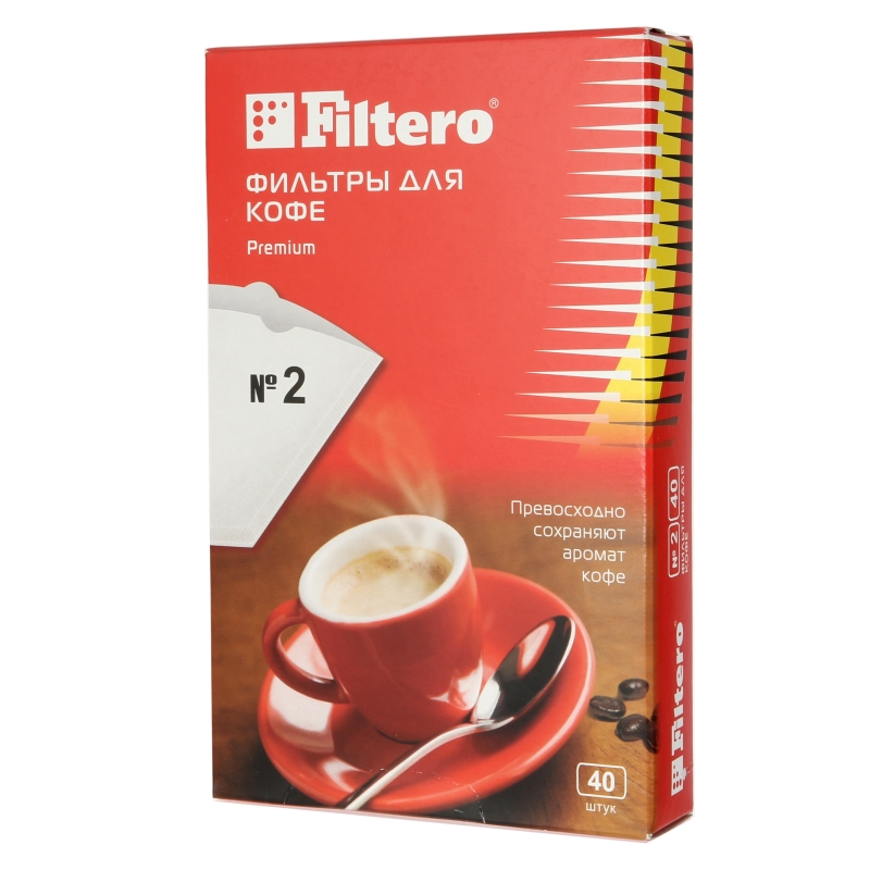 0eea43fb51e Фильтры для кофе FILTERO №2 40 белый — купить в интернет-магазине ...