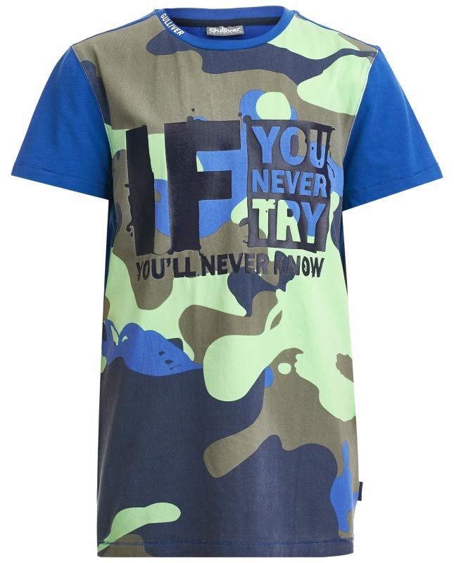 952479c7cc9f Футболка Gulliver 21812BTC1203 для мальчика, цвет синий, размер 146*72*63,  возраст 11 лет