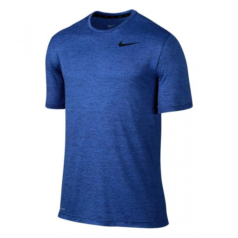 a3035d5cbb470 Футболка NIKE DRI-FIT TRAINING SS 742228-455 мужская, цвет синий ...