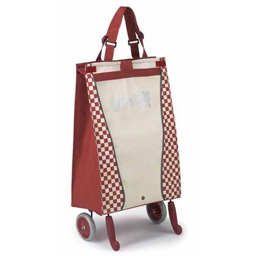 Сумка-тележка GIMI BELLA, красно-белая - купить в интернет магазине с...