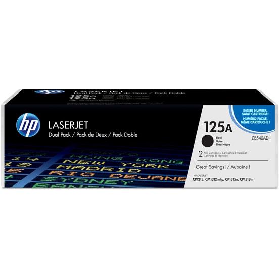 Картридж HP CB540AD для HP CLJ CP1215/1515/1518/CM1312. Черный. 2 200 страниц. Двойная упаковка.