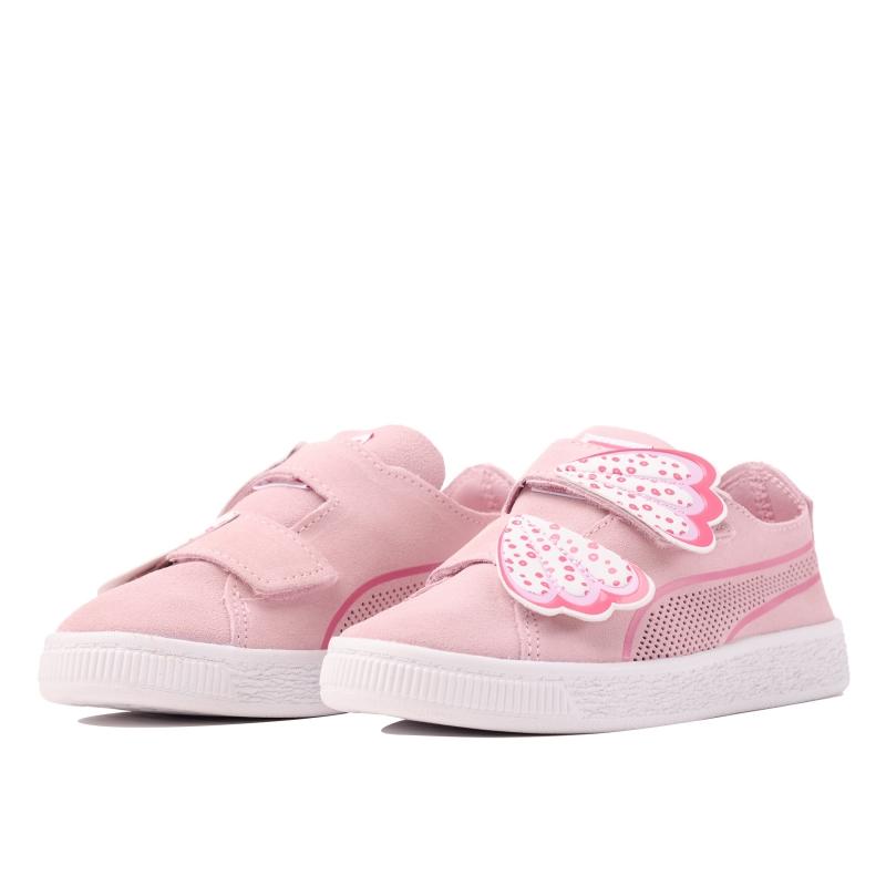 ef3028f9 Кеды PUMA 36909001 для девочек, цвет розовый, рус.размер 26,5 Изображение
