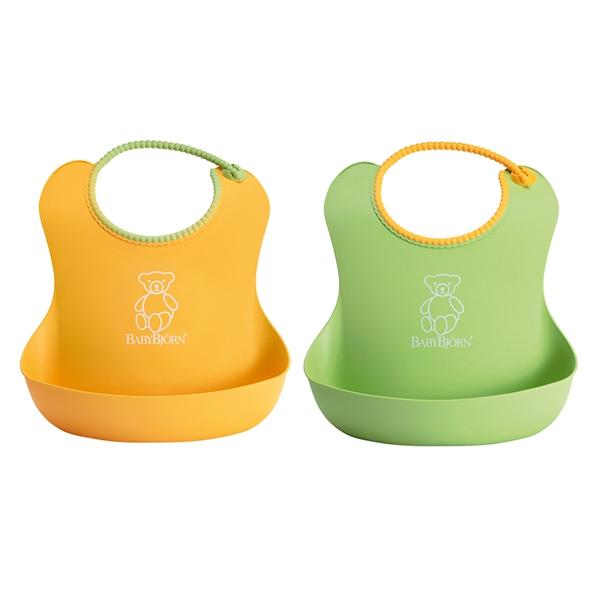 3252de213515 Комплект из 2 нагрудников BabyBjorn, зеленый желтый, 0462.03 ...
