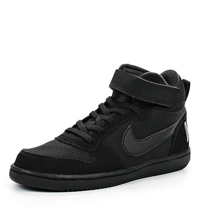 86c84878108b Кроссовки NIKE Court Borough Mid 870026-001 для мальчика, цвет черный, рус.