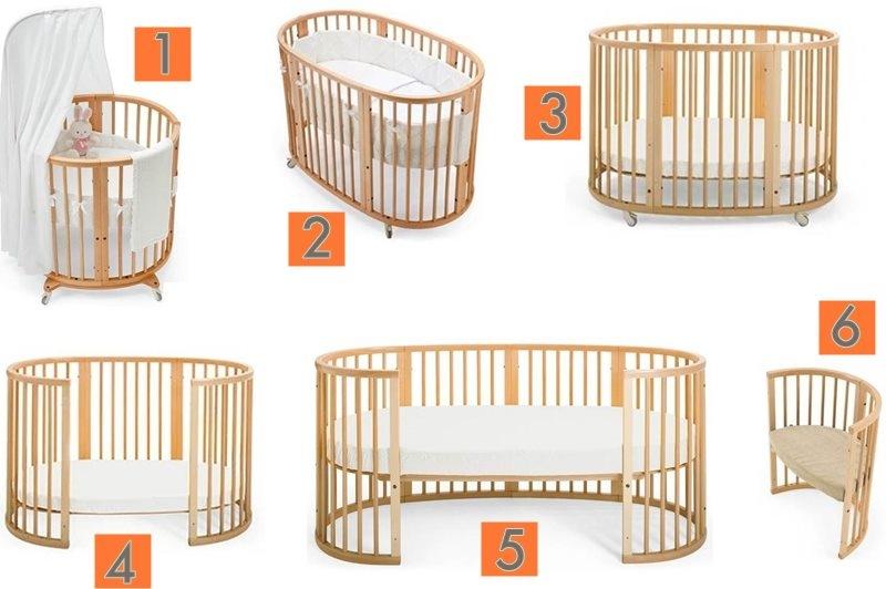 Купите круглую кроватку трансформер для новорожденного по выгодной цене в интернет-магазине антончик.ру.