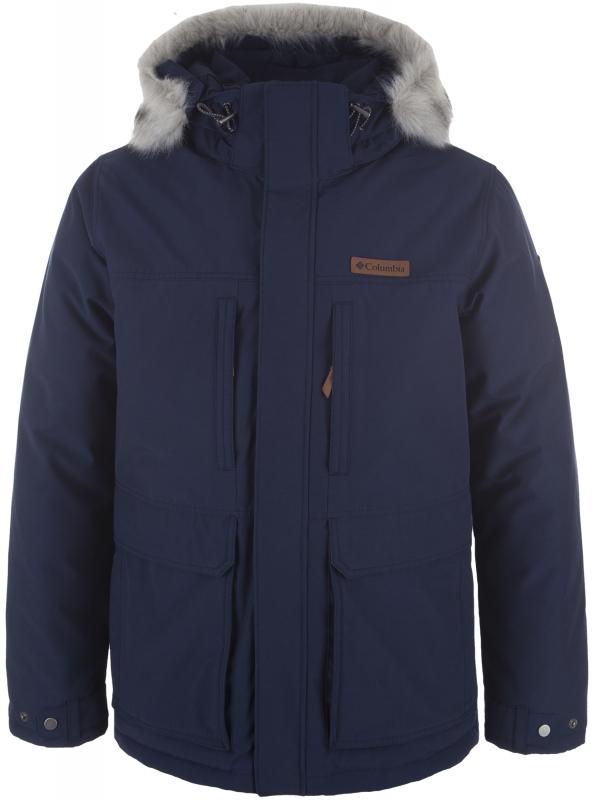 Парка утепленная Columbia 1798922 Marquam Peak™ Jacket мужская, цвет  тёмно-синий, размер 434dd5cbcd1