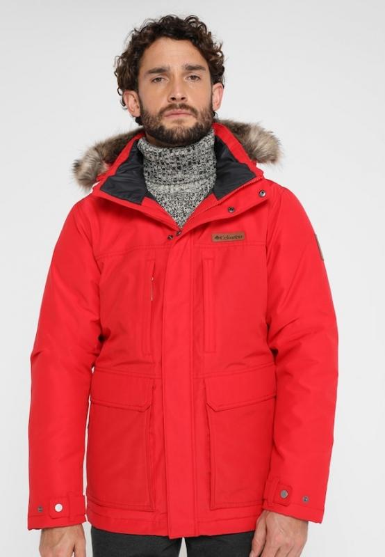 Парка утепленная Columbia 1798922 Marquam Peak™ Jacket мужская, цвет  красный, размер 44- 2d1894aec0b