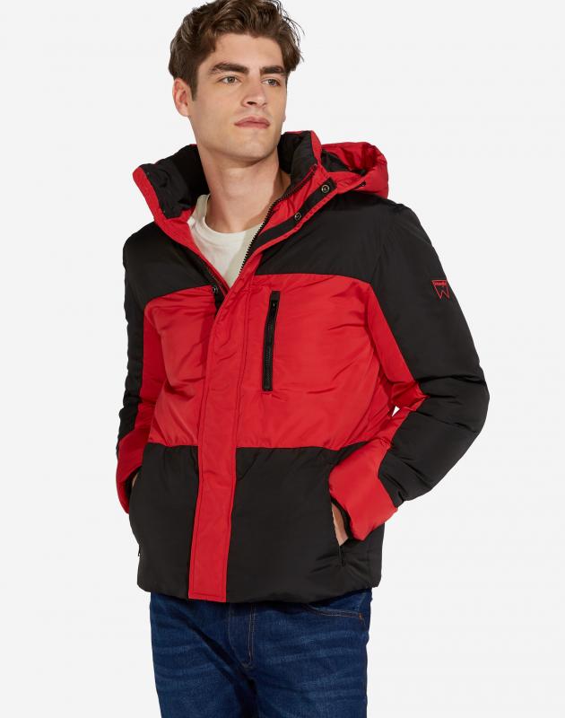 Куртка утеплённая WRANGLER PROTECTOR JACKET W4A2W3X47 мужская, цвет красный , размер S — купить в интернет-магазине ОНЛАЙН ТРЕЙД.РУ
