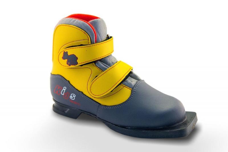 Ботинки лыжные МАРАКС 75мм KIDS серо-желтый р.35 KIDS 35 - купить по выгодной цене в интернет-магазине ОНЛАЙН ТРЕЙД.РУ Новосибирск