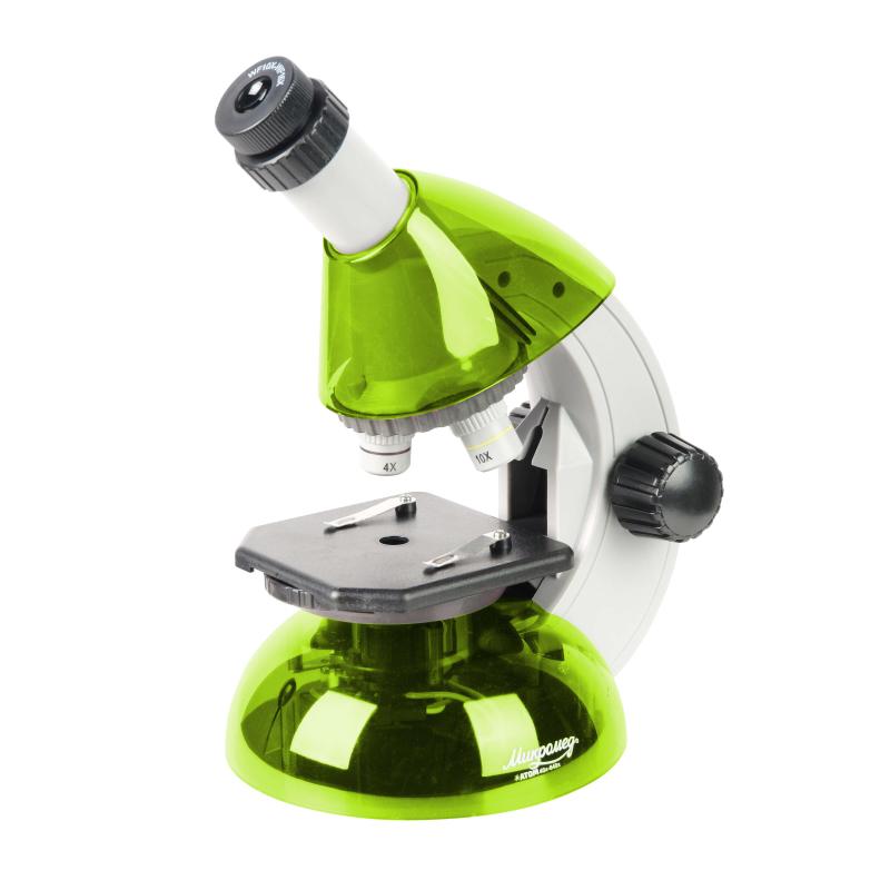 Микроскоп Микромед Атом 40x-640x (лайм), шт — купить в интернет-магазине ОНЛАЙН ТРЕЙД.РУ