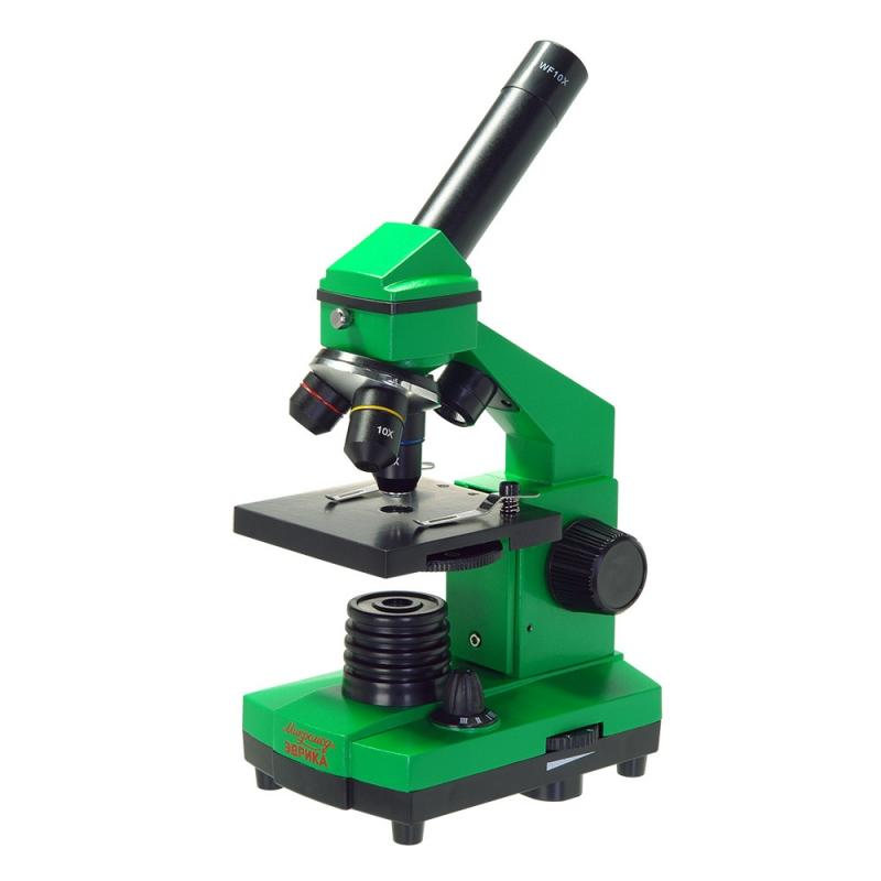 Микроскоп школьный Микромед Эврика 40х-400х в кейсе (лайм) — купить в интернет-магазине ОНЛАЙН ТРЕЙД.РУ