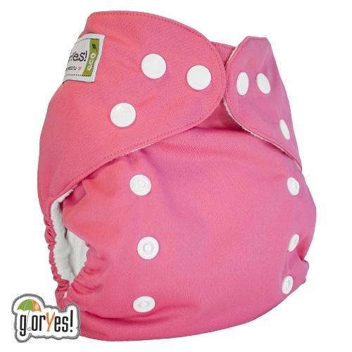 Многоразовый подгузник GlorYes! CLASSIC (ГлорЕс Классик) Розовый 3-15 кг +  один 5b730f60b93