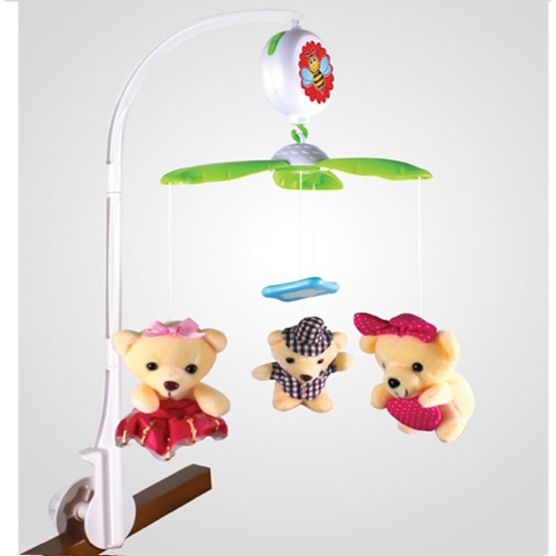 Мобиль на кроватку (на батарейках, мягкие игрушки), М6611B-4 YAKO  Изображение 345e1f6fd81