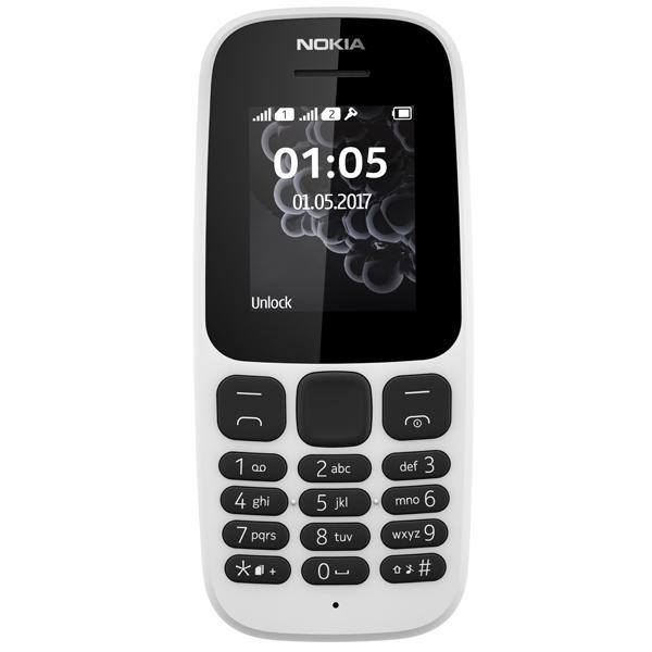 26ddb2bd1450f Мобильный телефон Nokia 105 Dual sim (TA-1034) White. Код товара: 1050458.  - купить в интернет магазине с доставкой, цены, описание, характеристики,  отзывы