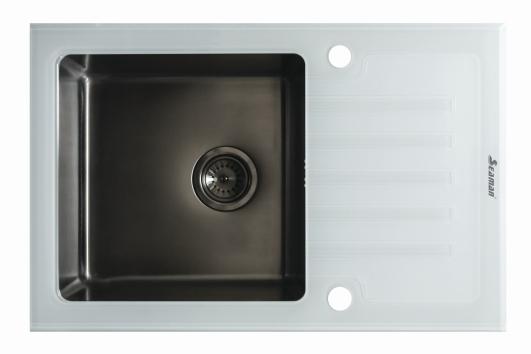 Кухонная мойка Seaman Eco Glass SMG-780W SMG-780W.B- купить по выгодной цене в интернет-магазине ОНЛАЙН ТРЕЙД.РУ Санкт-Петербург