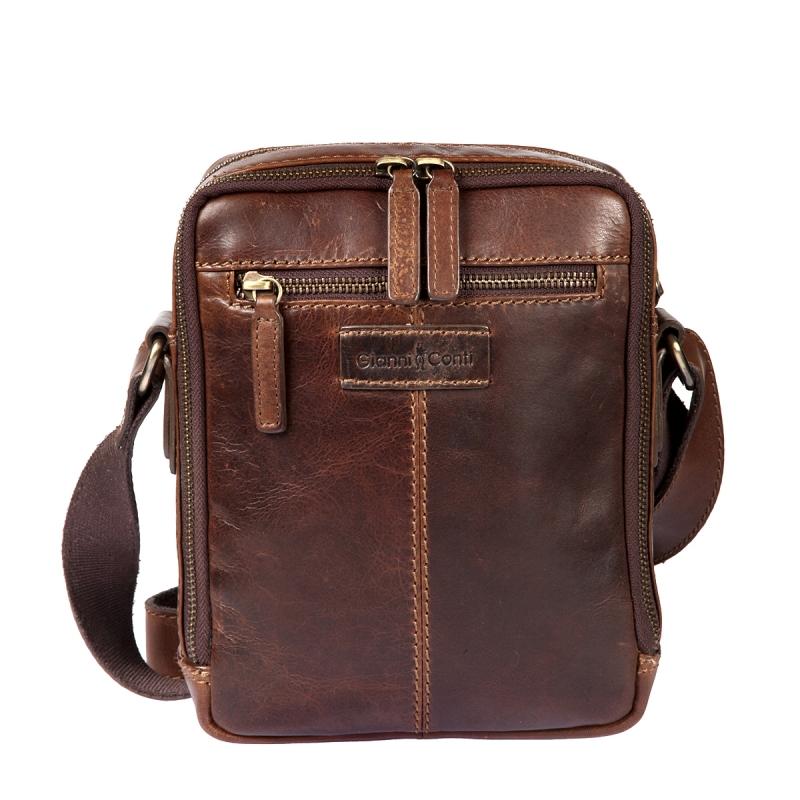 9f11b0e40fdf Мужская сумка через плечо GIANNI CONTI 1222312 dark brown, темно ...