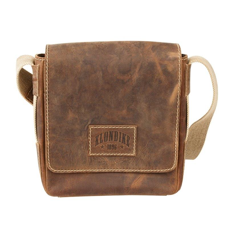 fa5f02b7dbd8 Мужская сумка через плечо KLONDIKE Native KD1127-03, коричневый Изображение  1 - купить в