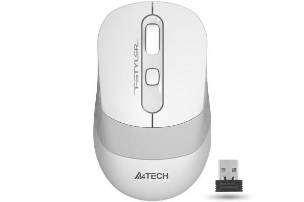 Мышь A4TECH Fstyler FG10 белый/серый оптическая (2000dpi) беспроводная USB (1147569)- купить по выгодной цене в интернет-магазине ОНЛАЙН ТРЕЙД.РУ Уфа