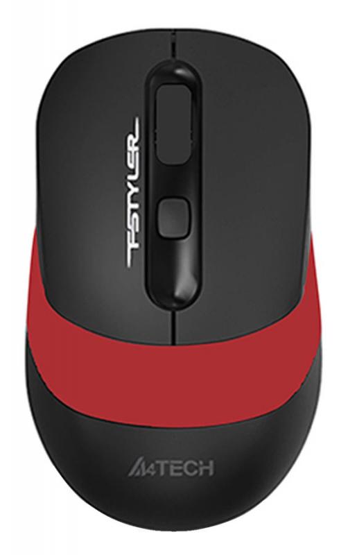 Мышь A4TECH Fstyler FG10 черный/красный оптическая беспроводная USB — купить в интернет-магазине ОНЛАЙН ТРЕЙД.РУ