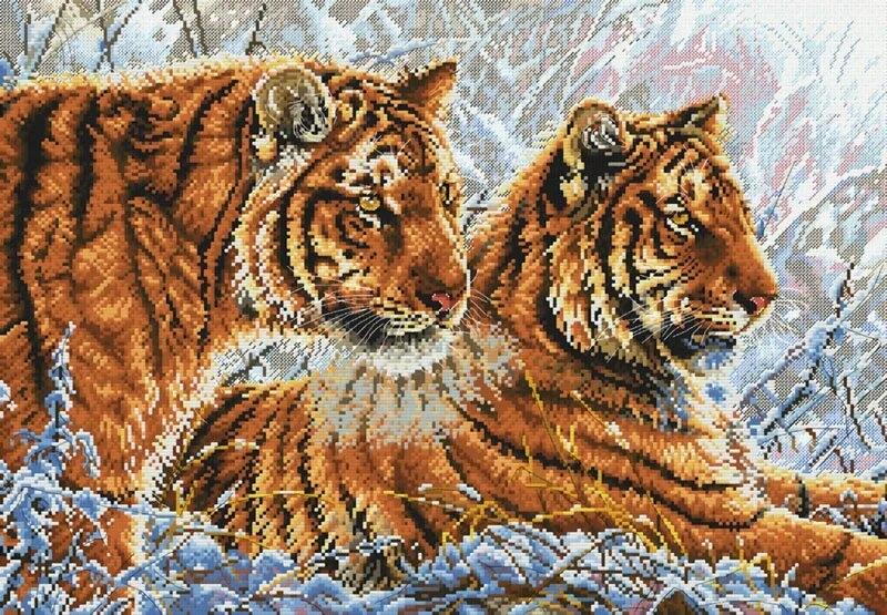 фото картинки крестиком тигры пирожки