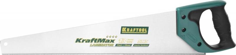 Ножовка по дереву KRAFTOOL KraftMax 15225-50 для ламинированных деревянных панелей и пластиковых панелей, подоконников и труб, 13 TPI, 500 мм — купить в интернет-магазине ОНЛАЙН ТРЕЙД.РУ