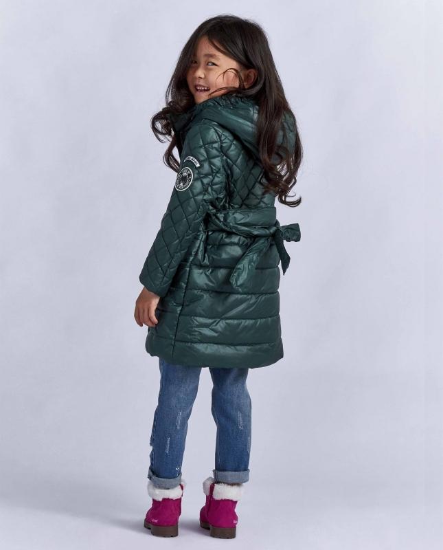 b7403cc0c496d Пальто Gulliver 21801GMC4501 для девочки, цвет тёмно-зелёный, размер 104*56*