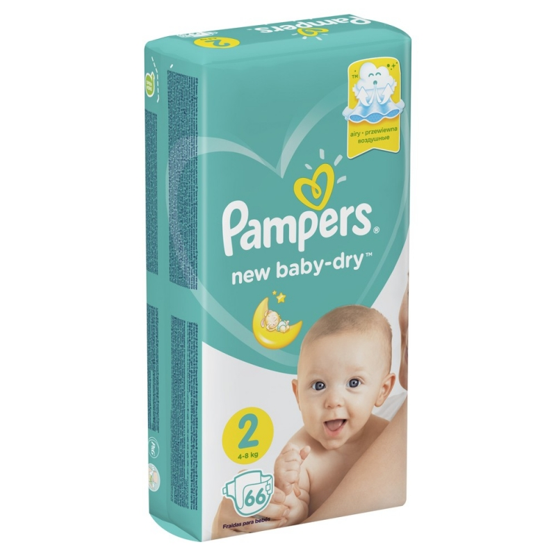 f2b8c9356f36 Подгузники Pampers New Baby-Dry (Памперс Нью Бэби) 2 Mini (4-8 кг ...