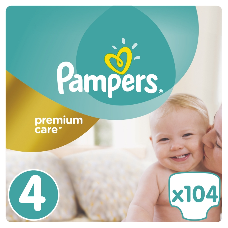 Подгузники Pampers Premium Care 4 Maxi (8-14 кг), 104 шт. eb46512c6e5