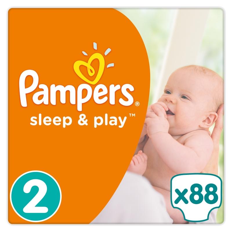 8cf02e15868a Подгузники PAMPERS Sleep   Play (Памперс Слип Энд Плей) 2 Mini (3-6 ...