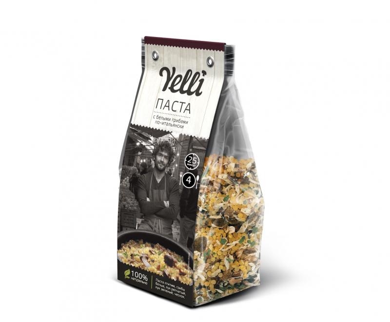 Паста Yelli с белыми грибами по-итальянски, 250 гр. — купить в интернет-магазине ОНЛАЙН ТРЕЙД.РУ