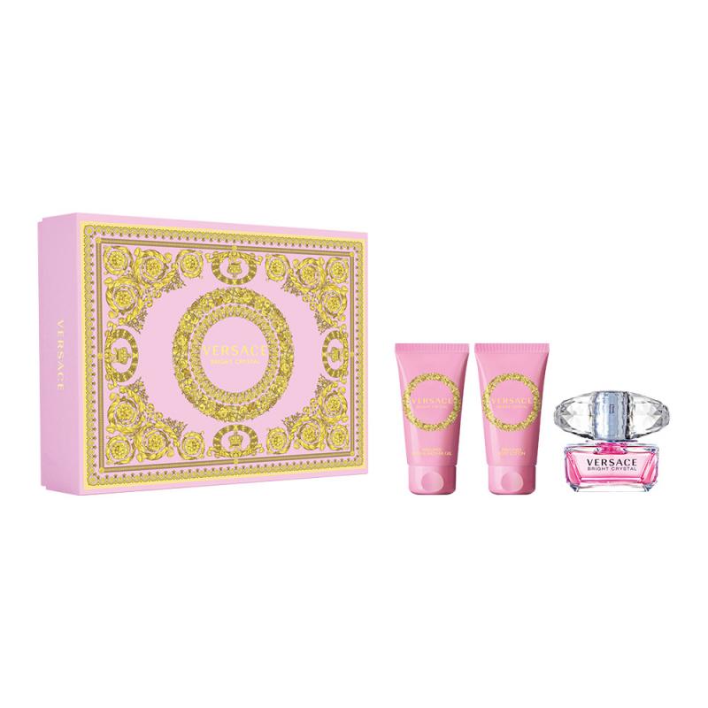 Подарочный набор VERSACE Bright Crystal (туалетная вода + гель для душа + лосьон для тела) — купить в интернет-магазине ОНЛАЙН ТРЕЙД.РУ