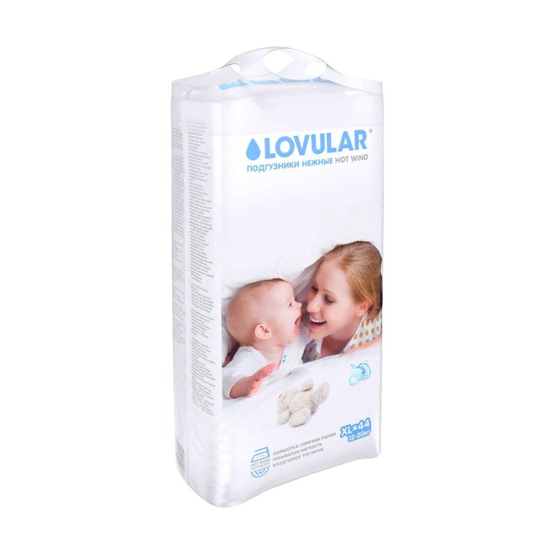 Подгузники LOVULAR Hot Wind XL (12-20 кг.) 44 шт. — купить в ... f5f2540ca14