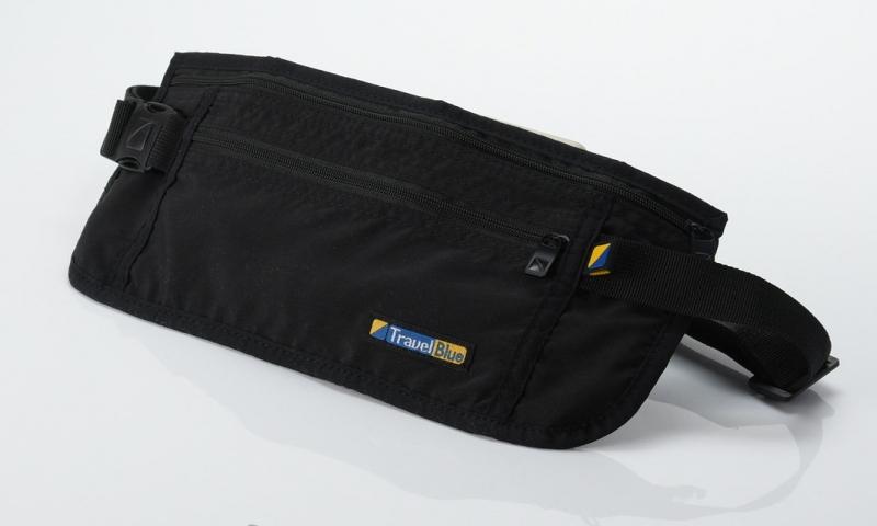4d3ec22a172d Поясная сумка-кошелек тонкая Travel Blue Ultra Slim Money Safe, черный  Изображение 1 -