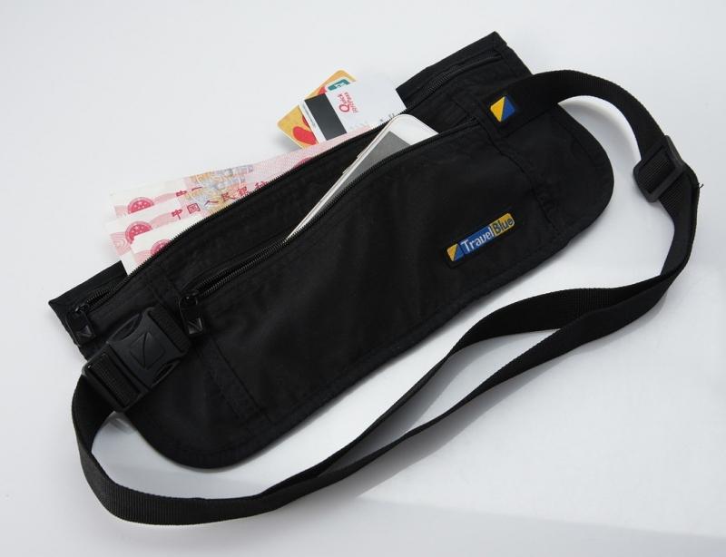 33883eaaa20f Поясная сумка-кошелек тонкая Travel Blue Ultra Slim Money Safe, черный  Изображение 2 -
