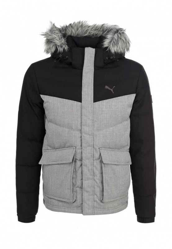 Пуховик PUMA STL Down Jacket black-houndsto, мужской, размер 44-46 ... 2c18050c138