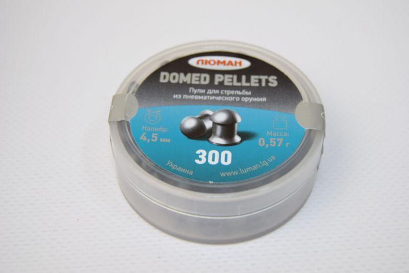 Пули пневматические ЛЮМАН Domed pellets, 0,57 г. 4,5 мм. (300 шт.) — купить в интернет-магазине ОНЛАЙН ТРЕЙД.РУ