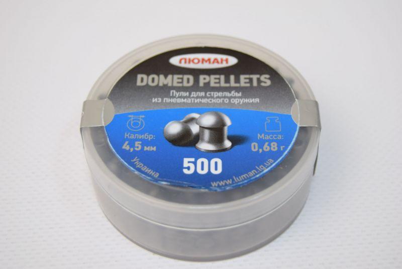 Пули пневматические ЛЮМАН Domed pellets, 0,68 г. 4,5 мм. (500 шт.) — купить в интернет-магазине ОНЛАЙН ТРЕЙД.РУ