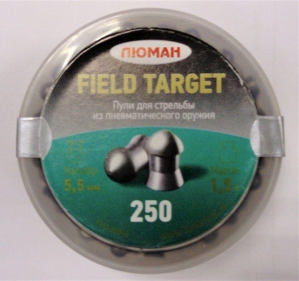 Пули пневматические ЛЮМАН Field Target, 1,5 г. 5,5 мм. (250 шт.) — купить в интернет-магазине ОНЛАЙН ТРЕЙД.РУ