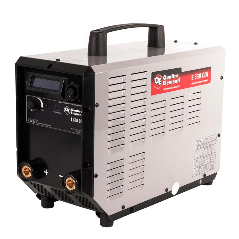 Аппарат электродной сварки, инвертор QUATTRO ELEMENTI E 330 (320 А, ПВ 100%, до 6 мм, Дисплей, TIG-Lift, 15 кг, 3ф-400В) — купить в интернет-магазине ОНЛАЙН ТРЕЙД.РУ