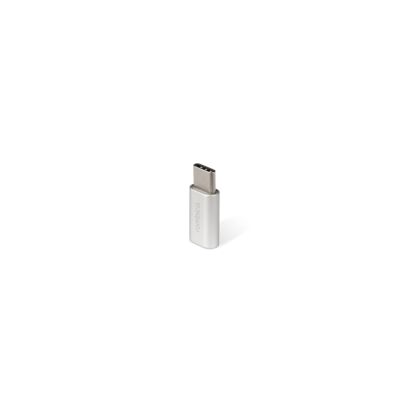 Переходник Rombica Type-C Adapter, USB 2 0 Type-C Male - Micro-USB Female,  алюминий