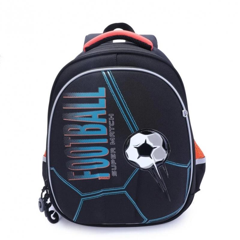 d0f3a543d36b Рюкзак школьный Grizzly RA-978-5/1 черный. Код товара: 1706601. - купить в  интернет магазине с доставкой, цены, описание, характеристики, отзывы