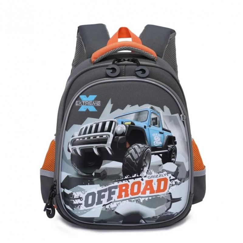 473230562394 Рюкзак школьный Grizzly RA-978-7/1 серый. Код товара: 1706602. - купить в  интернет магазине с доставкой, цены, описание, характеристики, отзывы