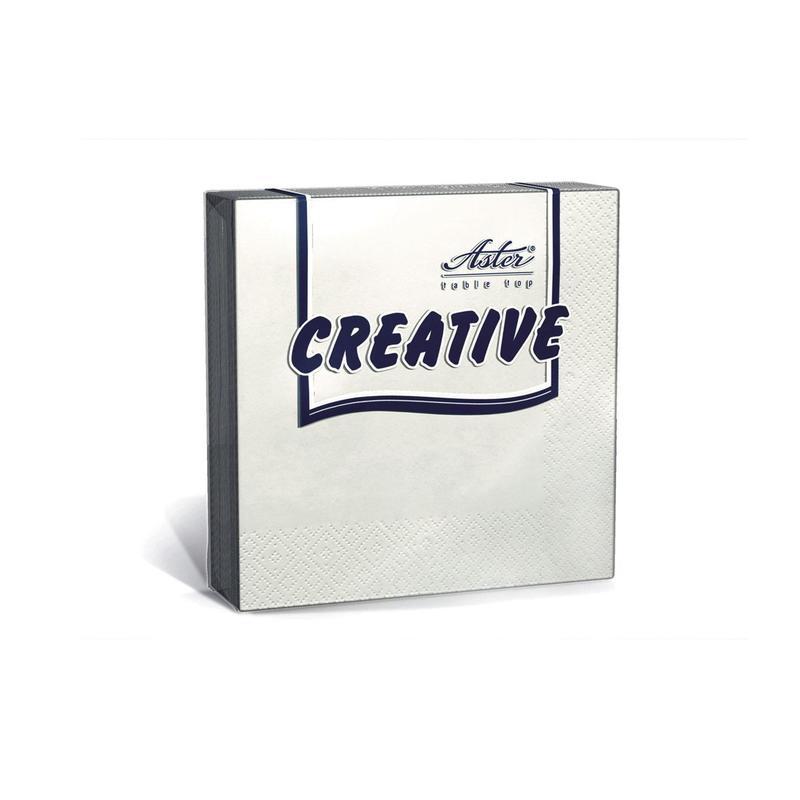 Салфетки бумажные Aster Creative 33x33 см белые 3-слойные 20 штук в упаковке — купить в интернет-магазине ОНЛАЙН ТРЕЙД.РУ