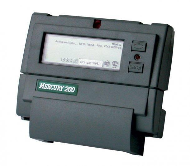 электросчетчик меркурий 200.02 инструкция по эксплуатации