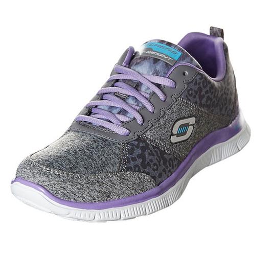 Кроссовки Skechers FLEX APPEAL - TRIBECA12075 женские, цвет  серый фиолетовый, рус. размер 2d3bc54256f